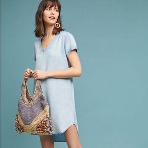 CLOTH & STONE Blue high-low T-shirt Dress S